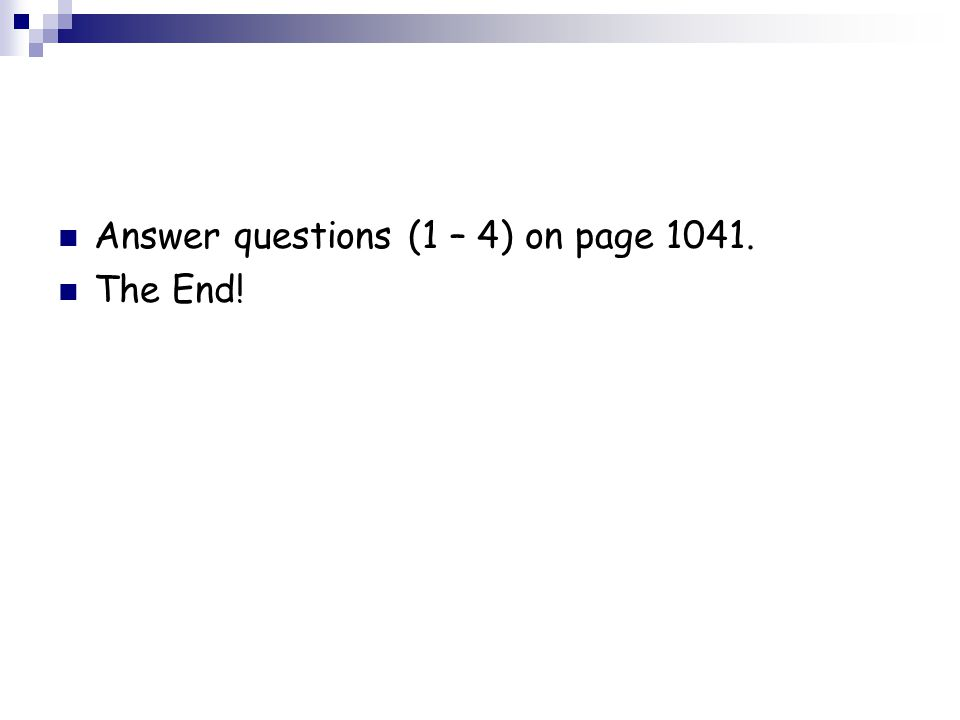 Answer questions (1 – 4) on page 1041.