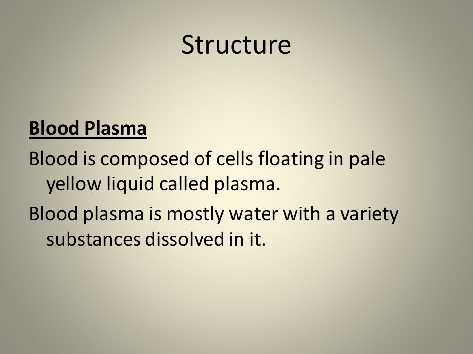 Structure Blood Plasma