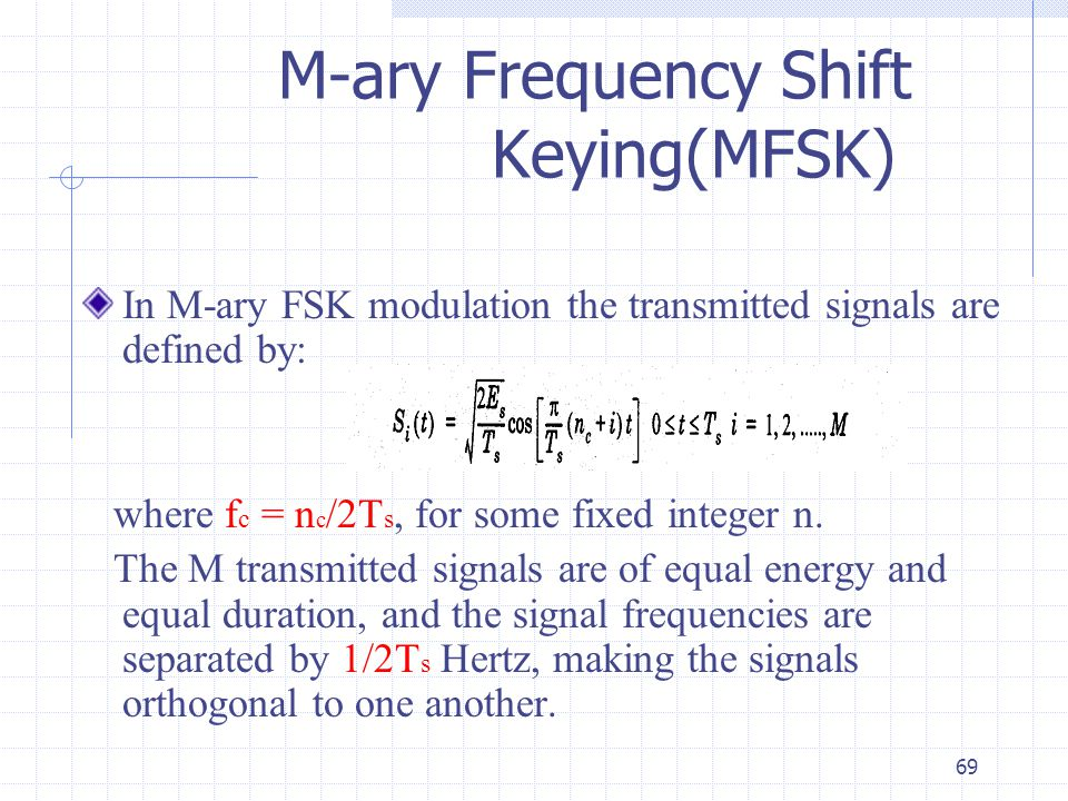 lectures digital modulation ppt video online download Electrical Block Diagram 69 m ary frequency shift keying(mfsk)