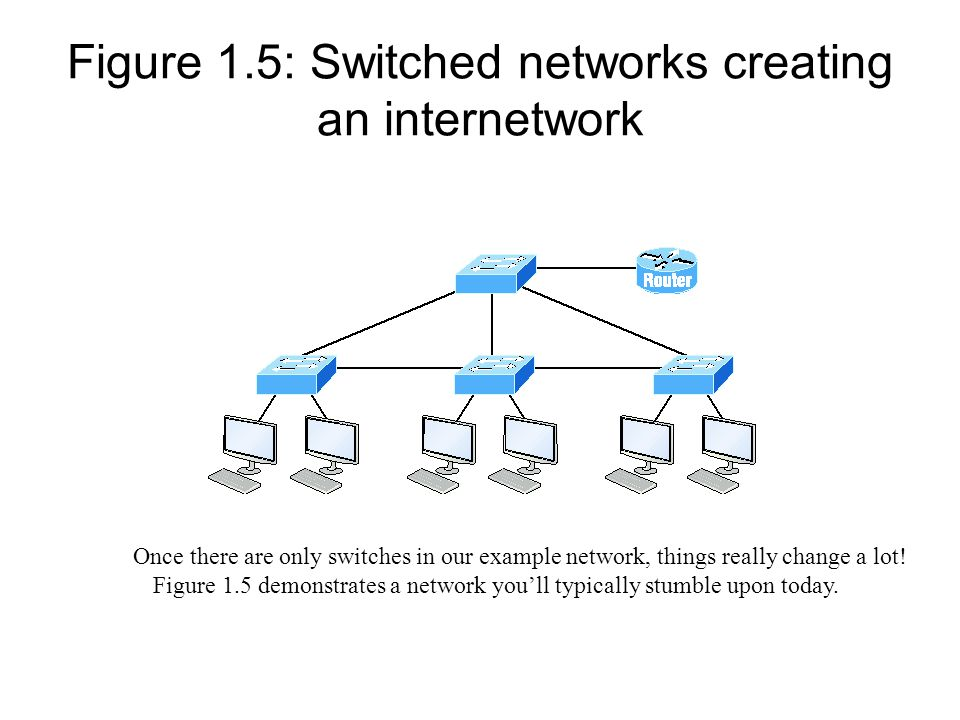 Figure 1.5: Switched networks creating an internetwork