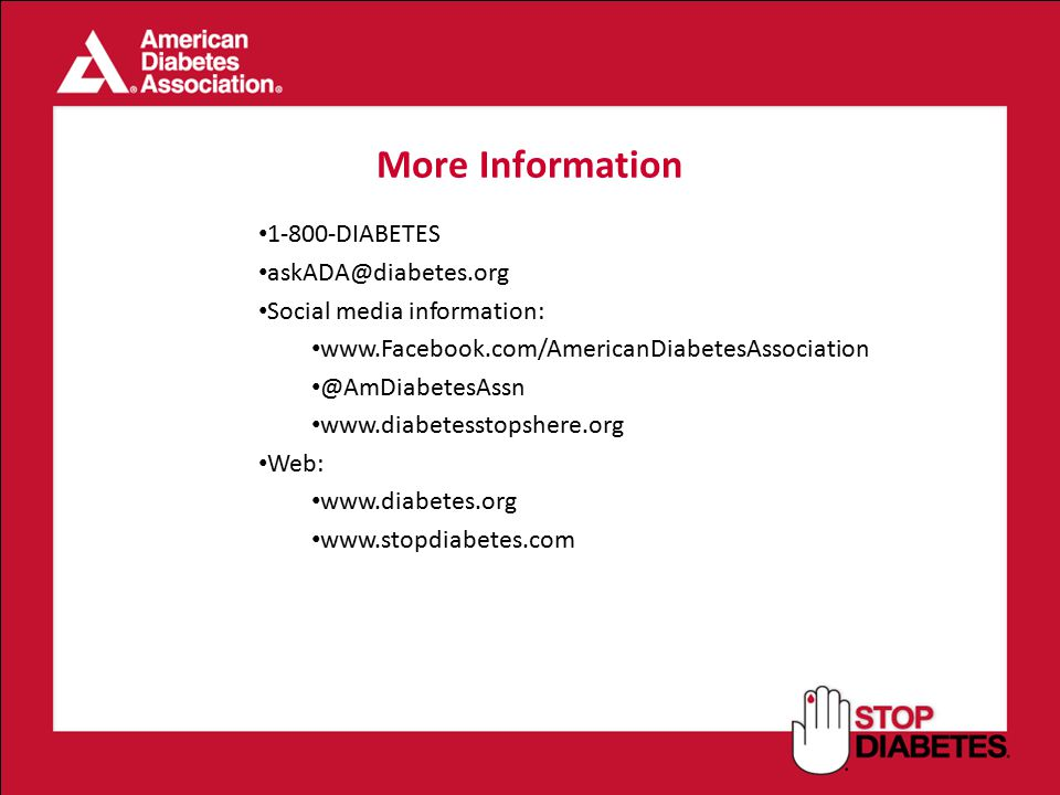 More Information DIABETES