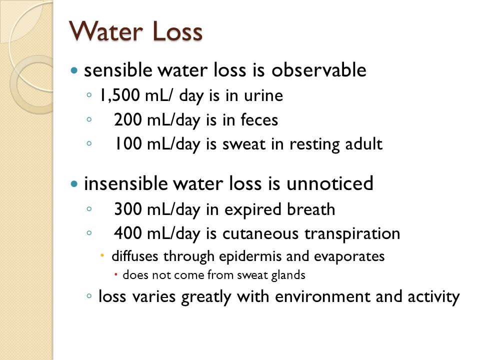 What Is Insensible Water Loss Water Ionizer