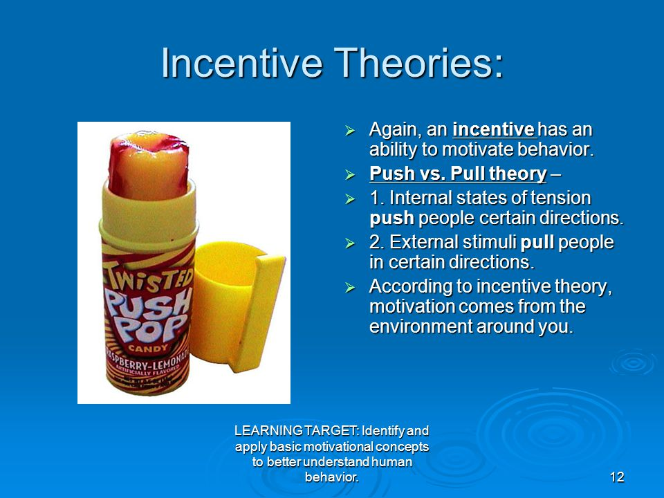 incentive theory of motivation definition