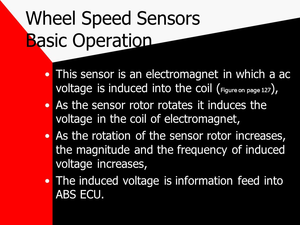 Wheel Speed Sensors Basic Operation