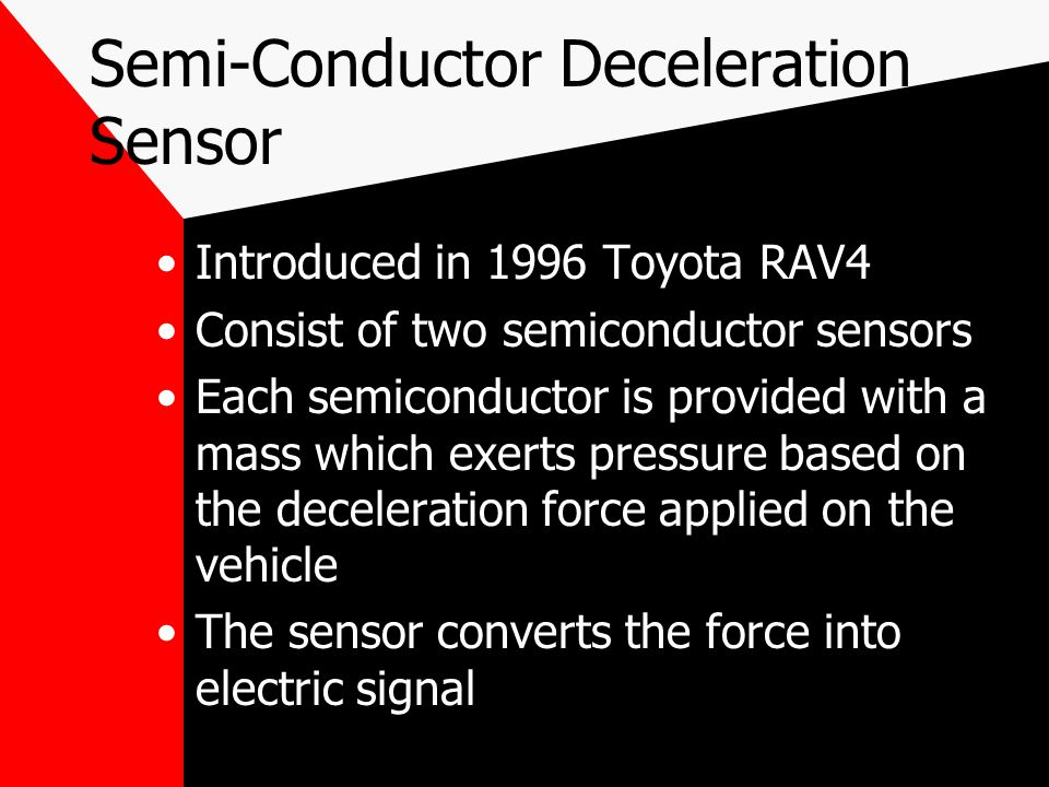 Semi-Conductor Deceleration Sensor