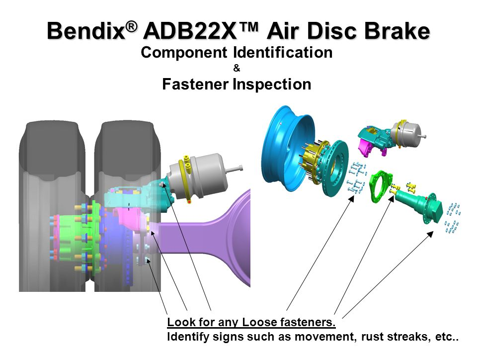 Bendix Adb 22x Air Disc Brakes Service Series Ppt Video Online