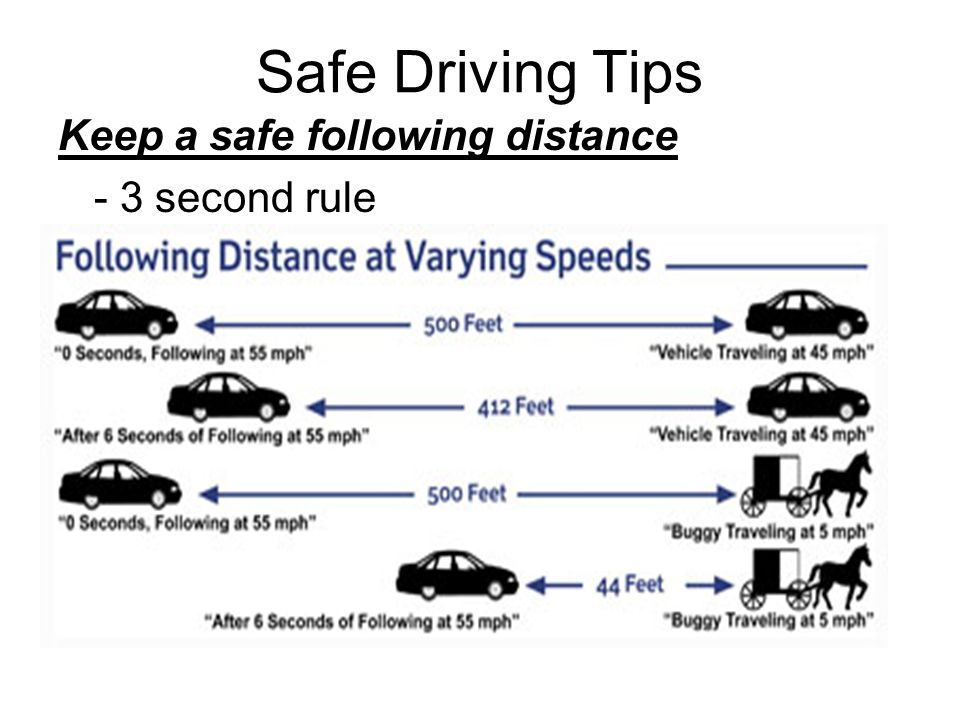 Rule three driving second What is