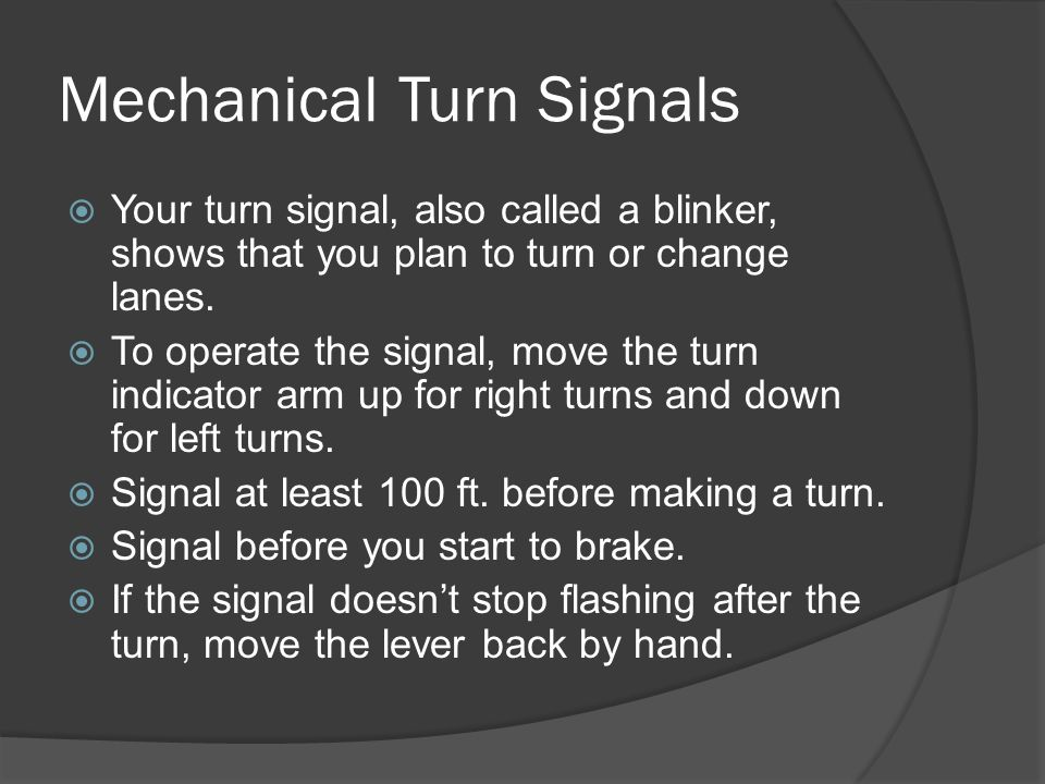 Mechanical Turn Signals