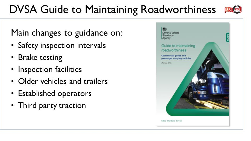dvsa guide to maintaining roadworthiness ppt video online download rh slideplayer com Home Inspection Manual Dot Inspection Manual