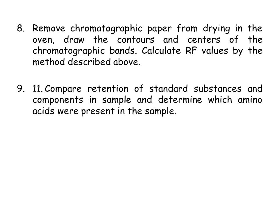 standard rf value of amino acids by paper chromatography