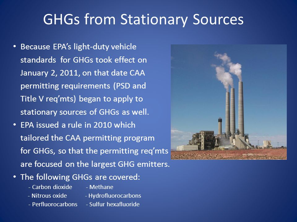 GHGs from Stationary Sources