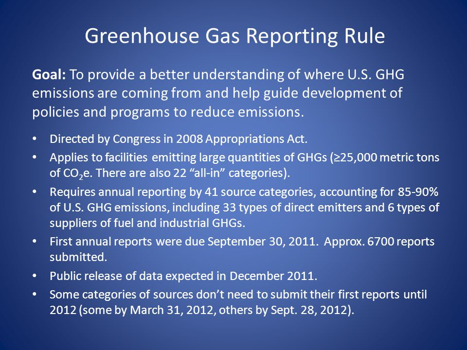 Greenhouse Gas Reporting Rule