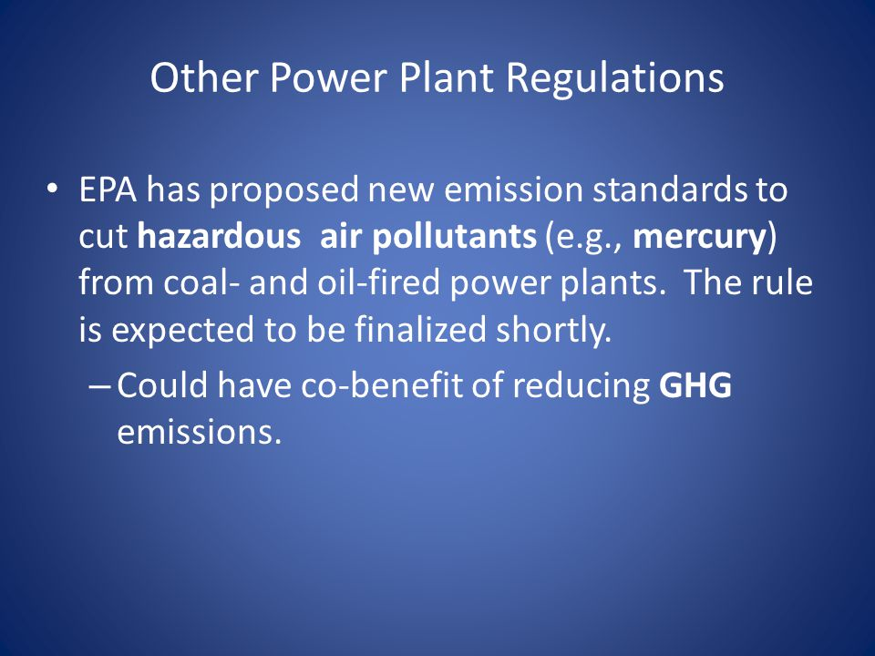 Other Power Plant Regulations