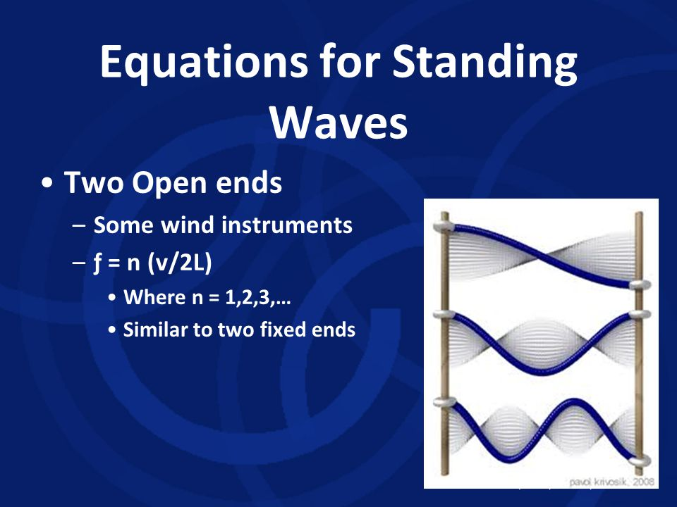 Equations for Standing Waves