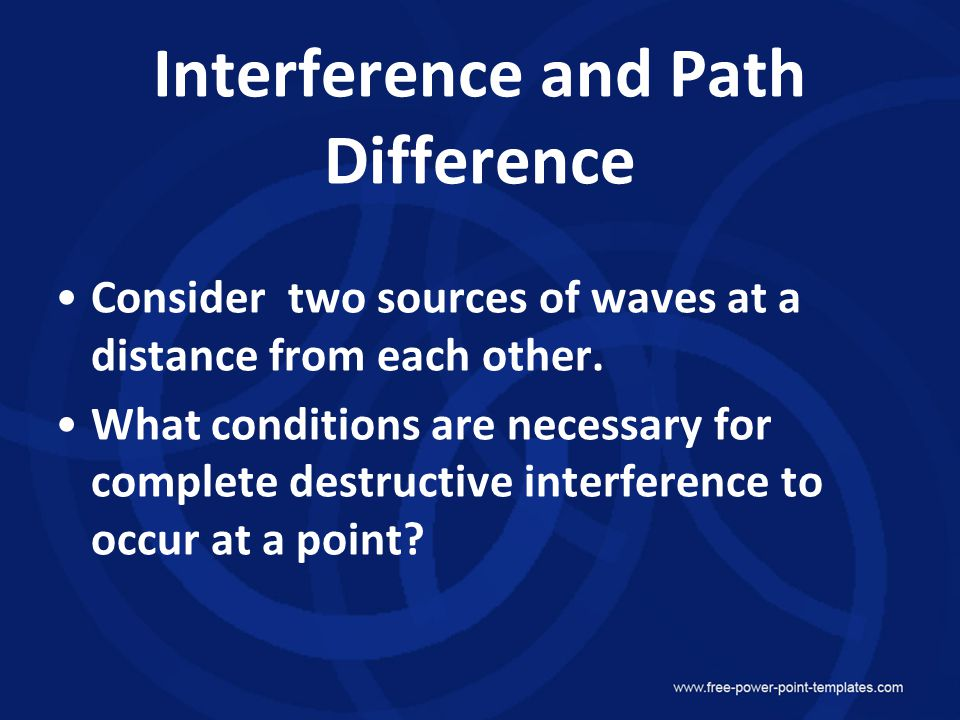Interference and Path Difference