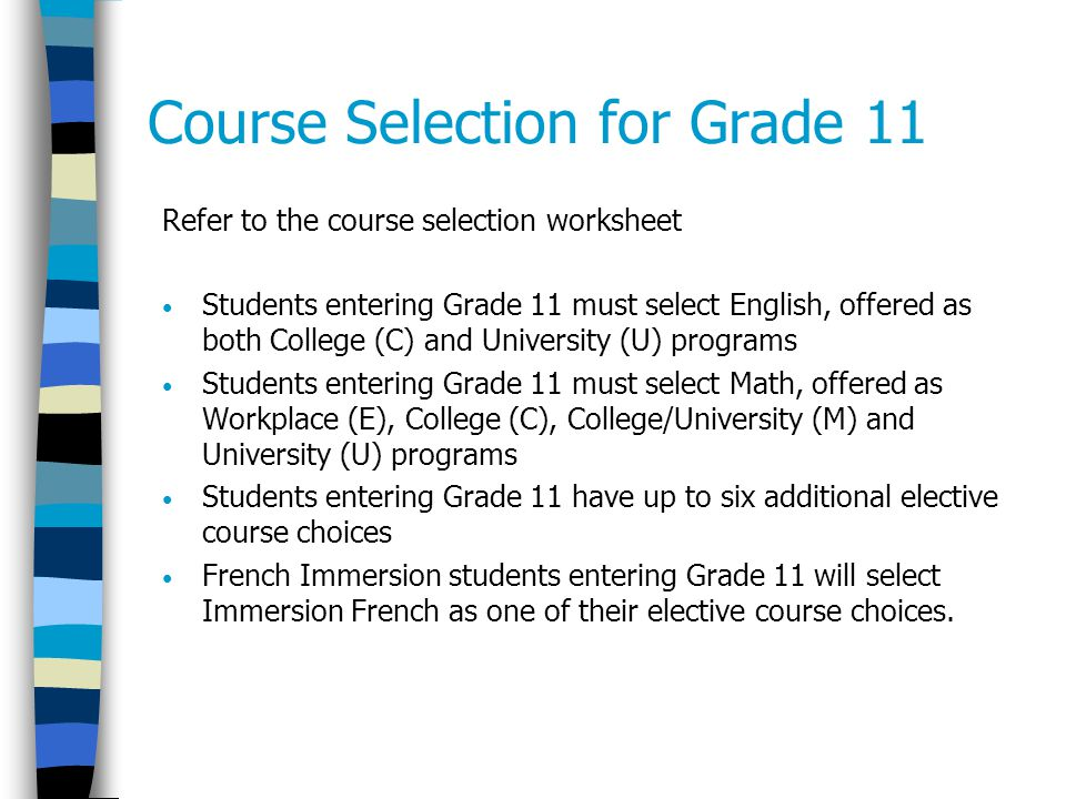 Course Selection And Pathways Planning Ppt Video Online Download