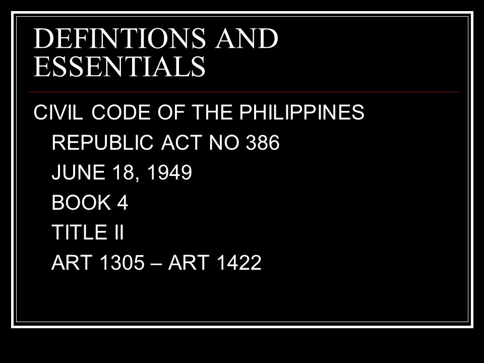 Civil Code Of The Philippines Book 4
