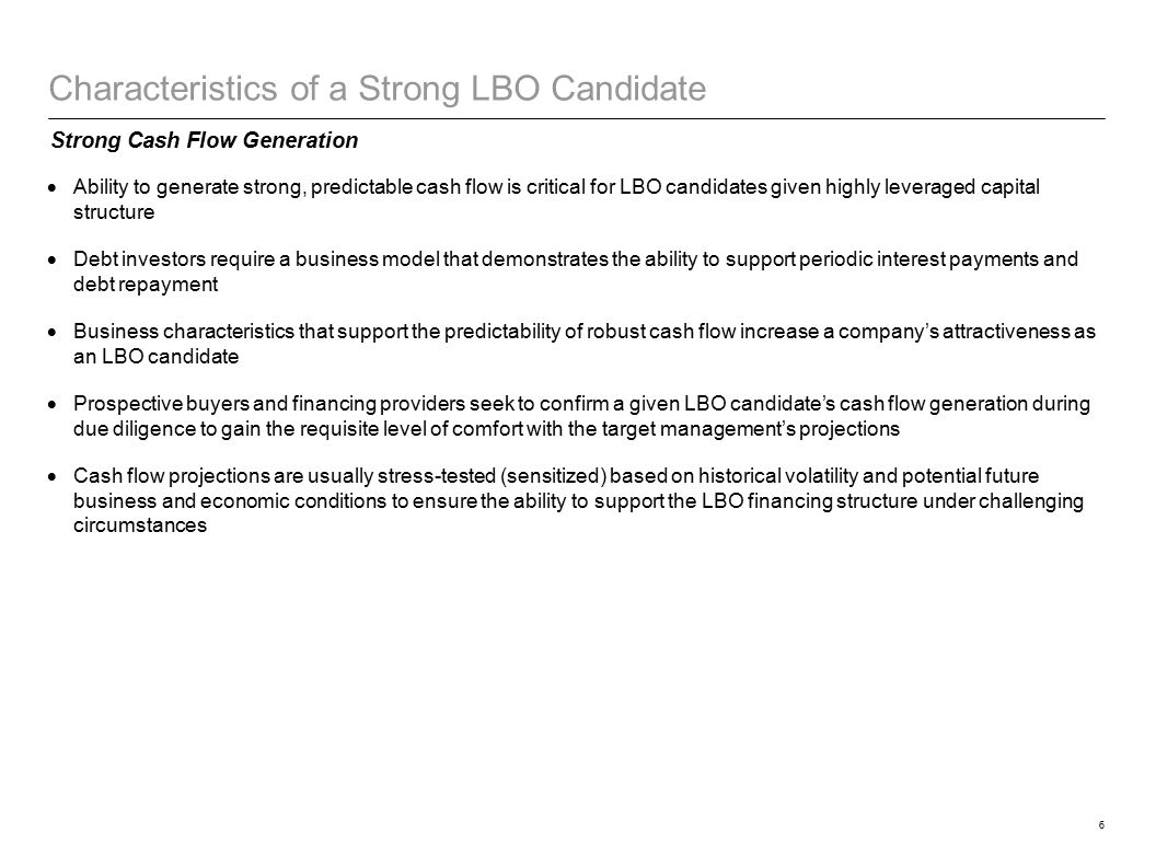 LBO Fundamentals Key Participants - ppt video online download