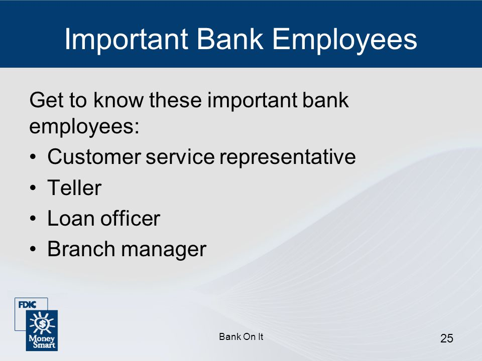 Important Bank Employees