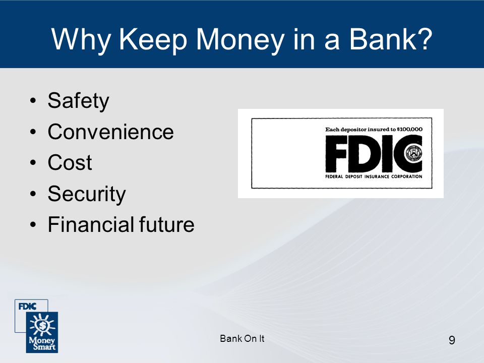 Why Keep Money in a Bank Safety Convenience Cost Security