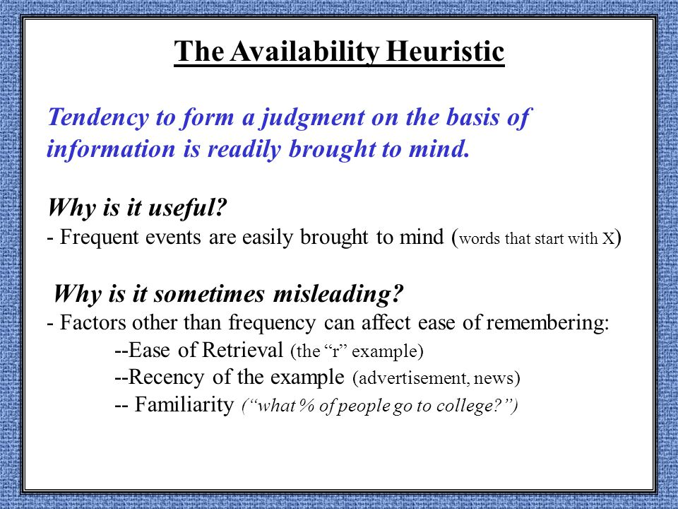 zolpidem safety and availability heuristic psychology