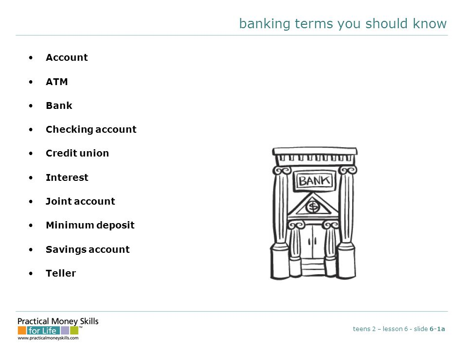 banking terms you should know
