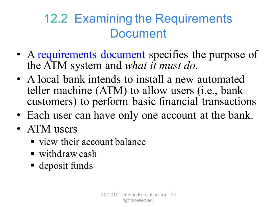 12.2 Examining the Requirements Document