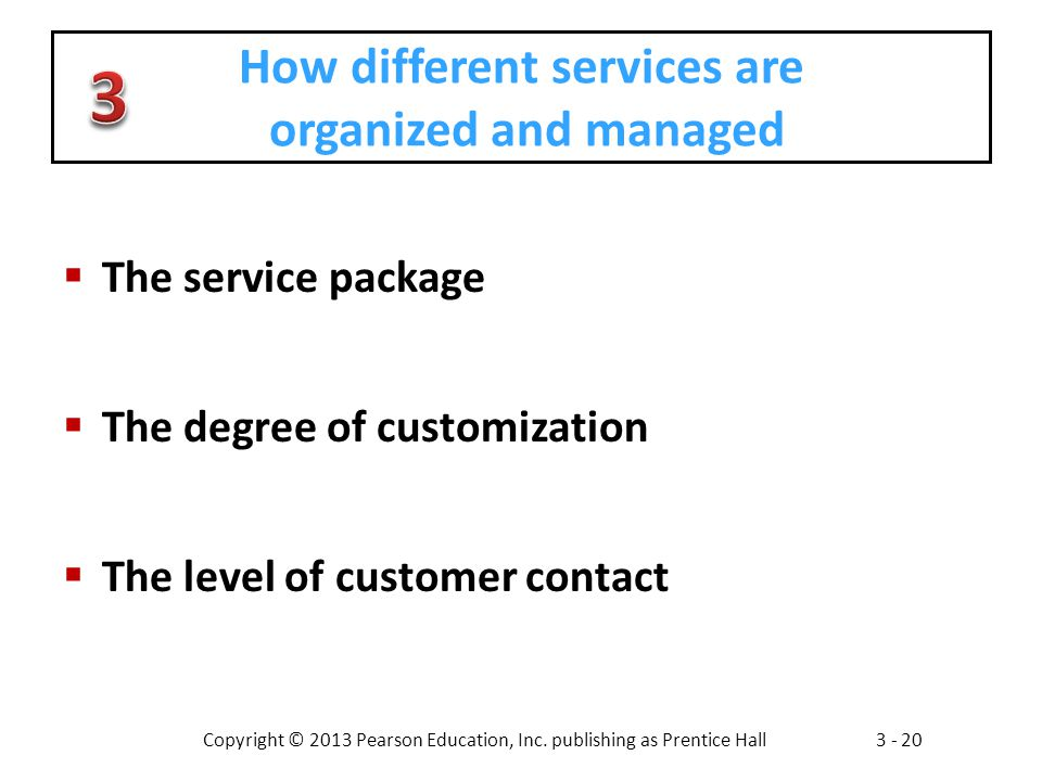 How different services are organized and managed