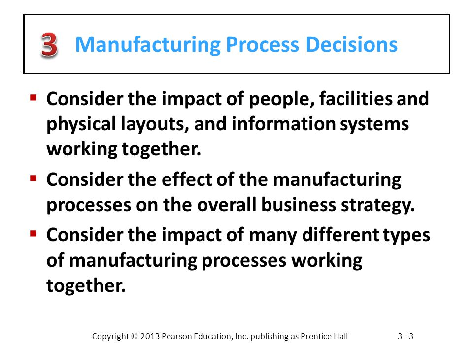 Manufacturing Process Decisions
