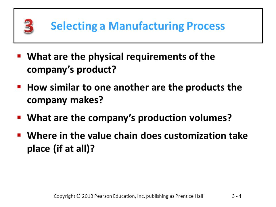 Selecting a Manufacturing Process