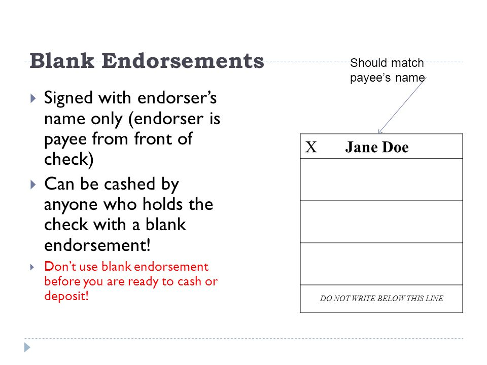 """What does made out """"to order and blank endorsed"""" mean in a bill of."""