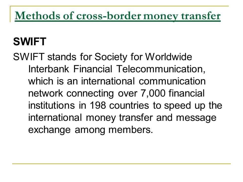 Methods Of Cross Border Money Transfer