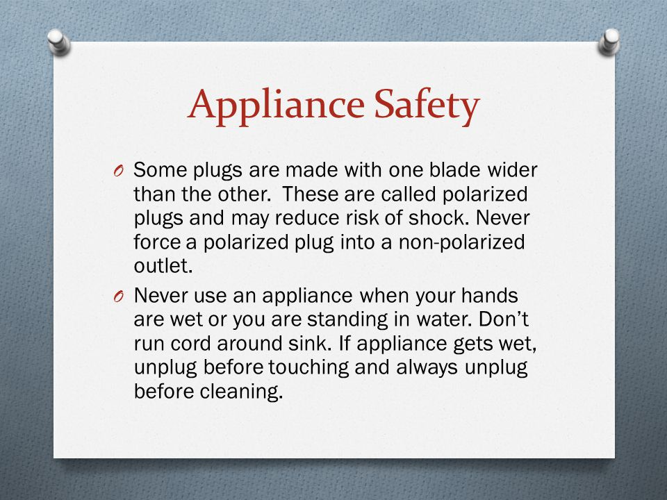 Appliance Safety