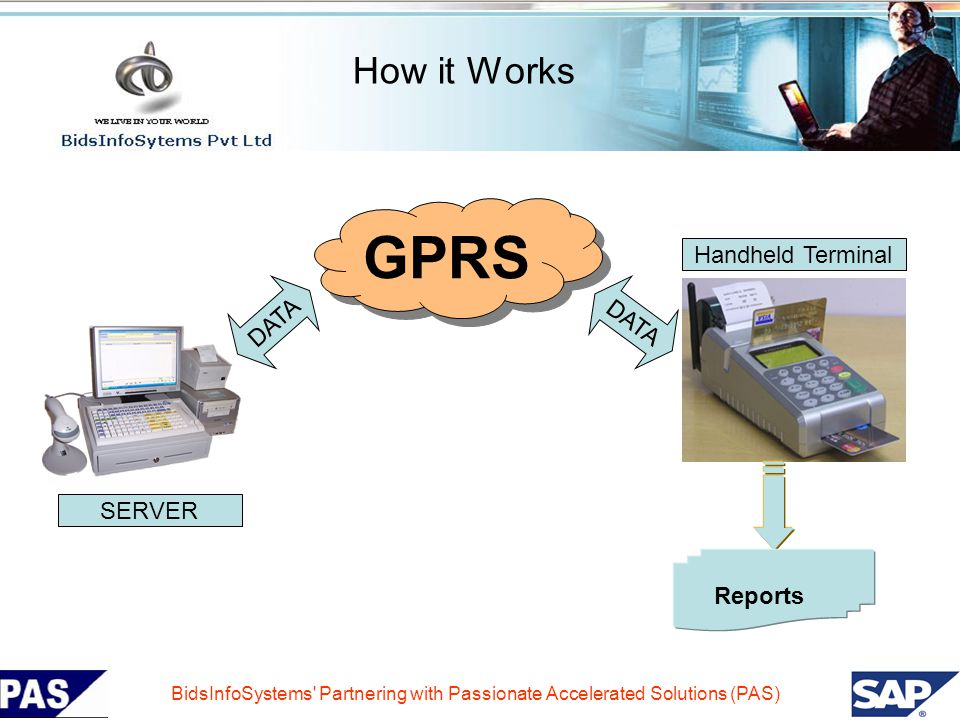 GPRS How it Works Handheld Terminal DATA DATA SERVER Reports