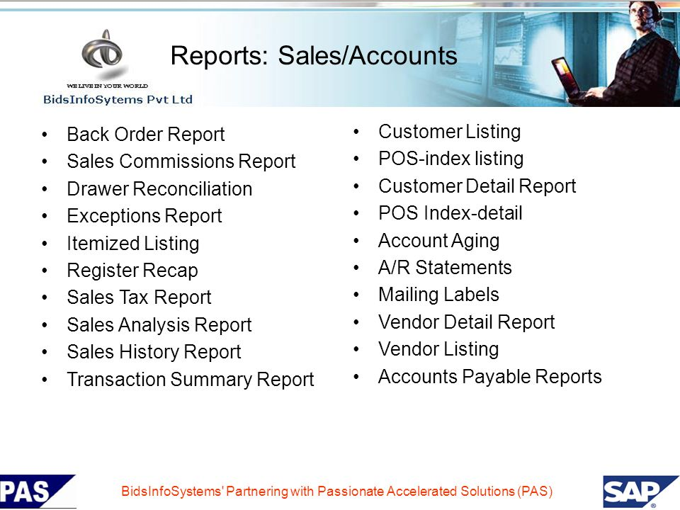 Reports: Sales/Accounts