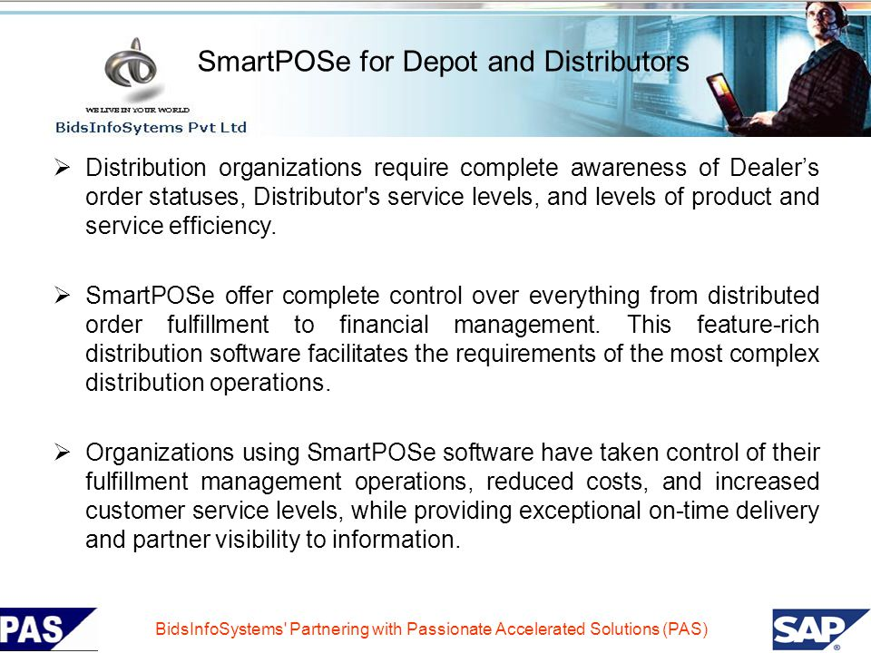 SmartPOSe for Depot and Distributors