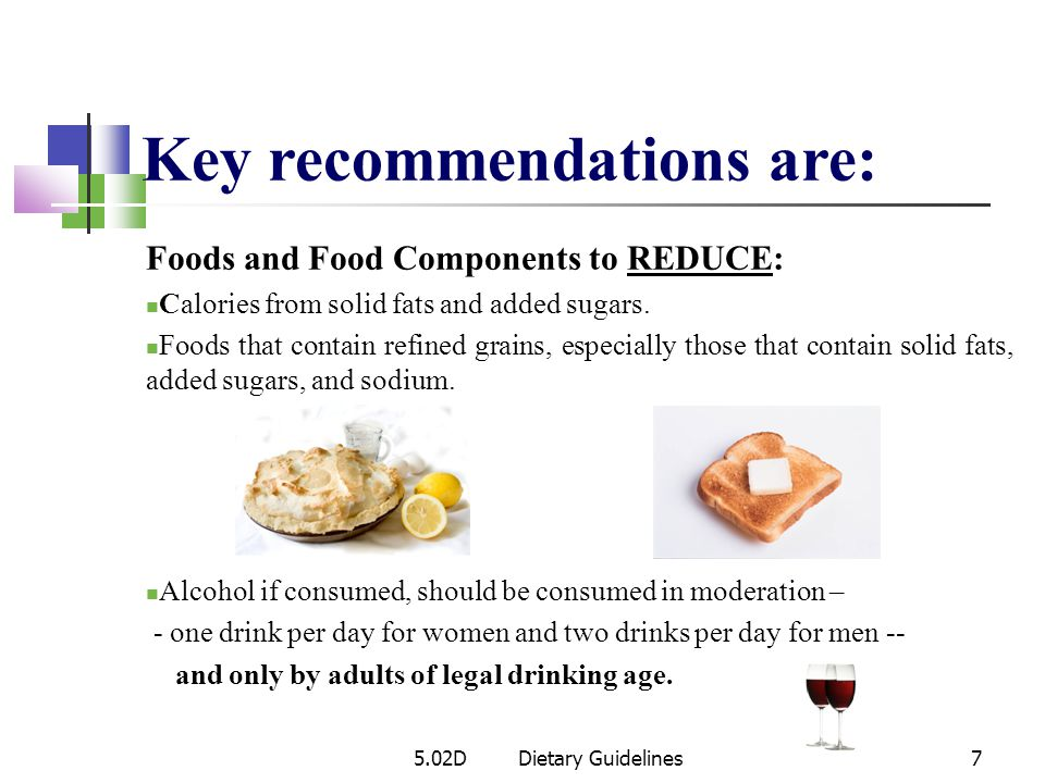 Key recommendations are:
