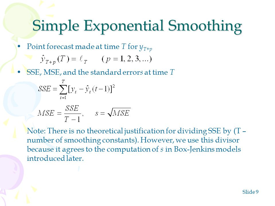 Exponential Smoothing Methods - ppt video online download