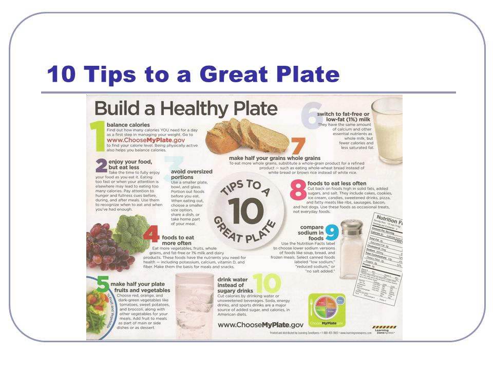 10 Tips to a Great Plate