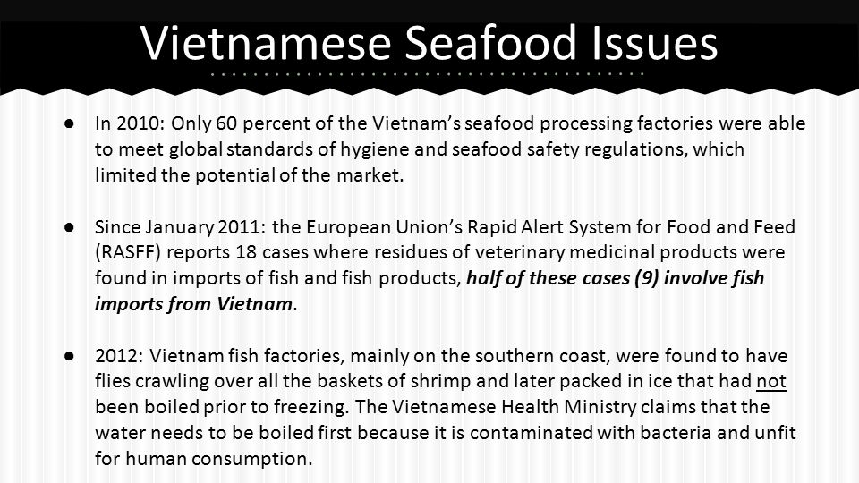 Seafood Safety in Vietnam - ppt video online download