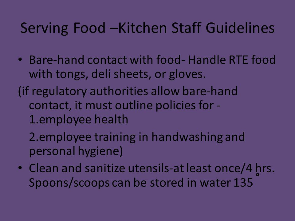 Personal Hygiene Rules That All Kitchen Staff Must Follow - Kitchen