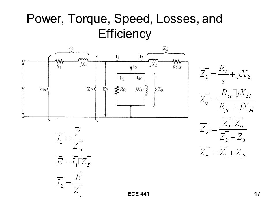 Power, Torque, Speed, Losses, and Efficiency