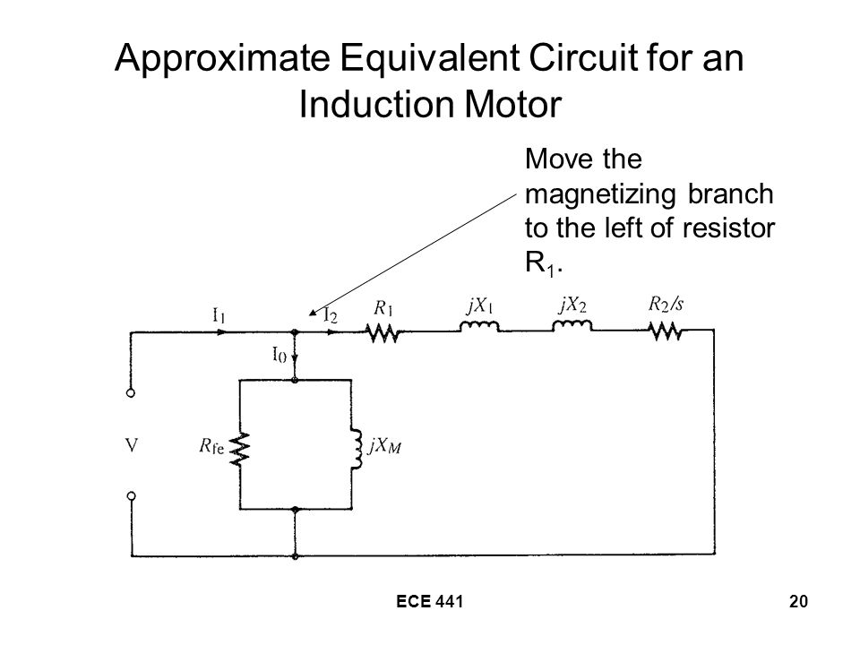 Approximate Equivalent Circuit for an Induction Motor
