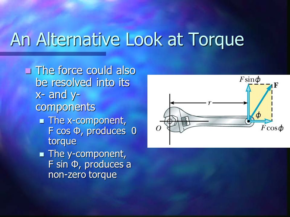 An Alternative Look at Torque