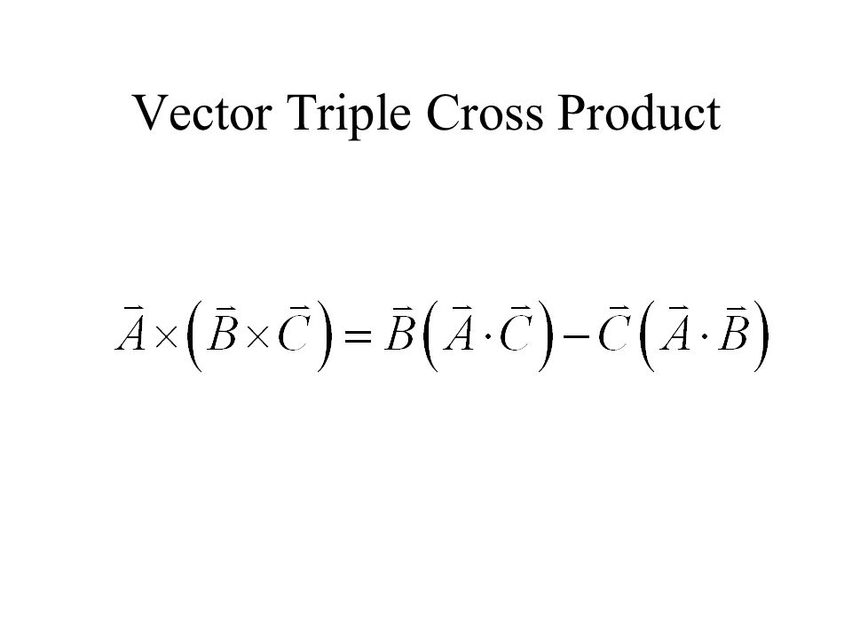 Vector Triple Cross Product