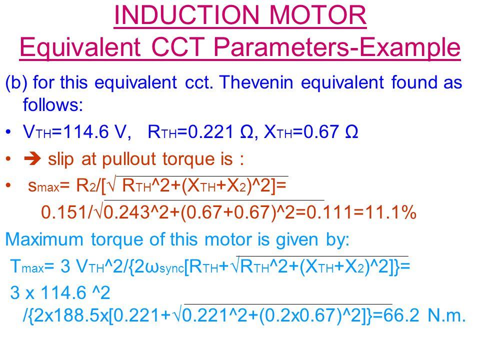 Induction motor:starting torque and maximum torque. | electric.