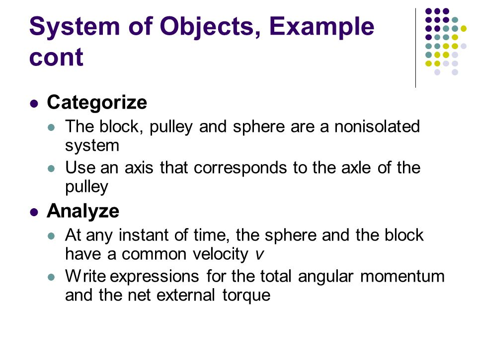 System of Objects, Example cont