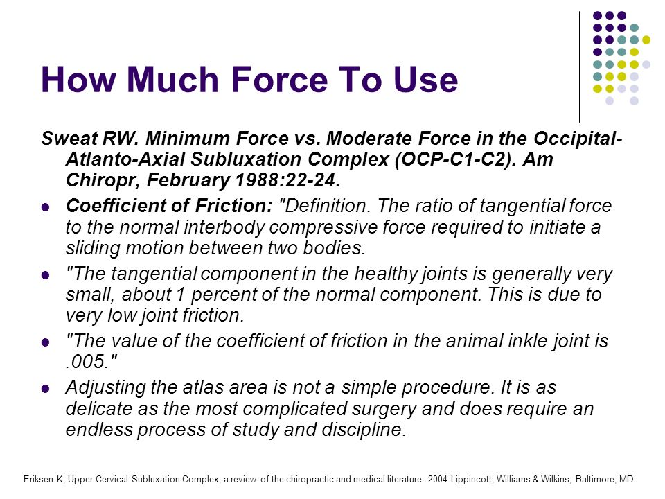 How Much Force To Use
