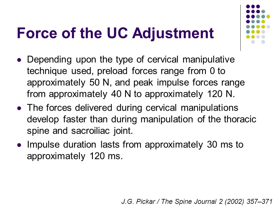 Force of the UC Adjustment