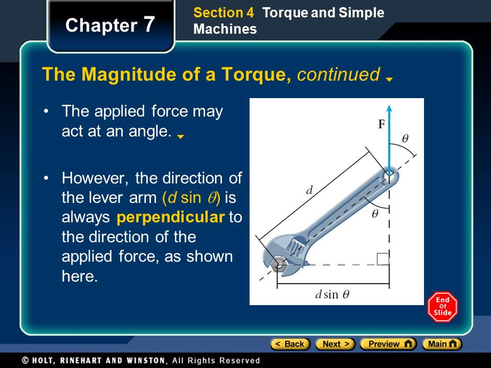 The Magnitude of a Torque, continued